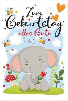 Bill. Geb. Kinder Elefant